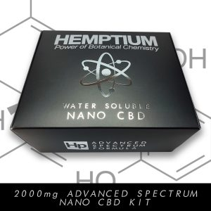 hemptium water soluble nano cbd therapeutic kit