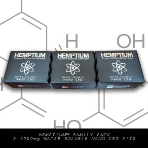 hemptium water soluble nano cbd therapeutic family pack