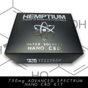 hemptium water soluble 750 mg nano cbd therapeutic kit