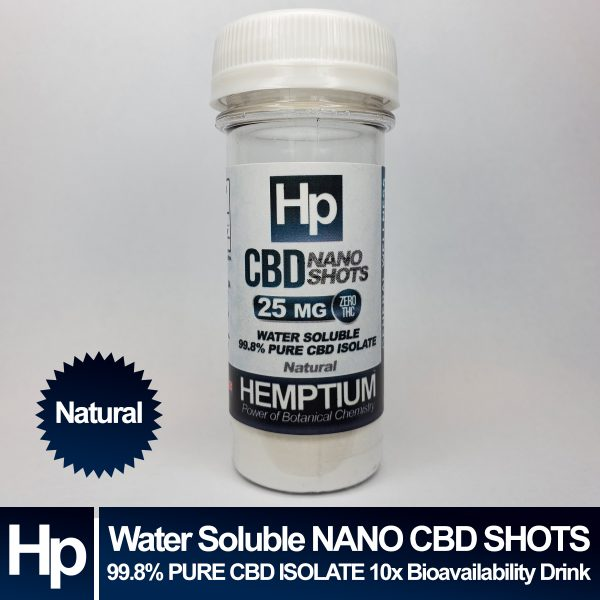 hemptium 25mg nano cbd pure isolate shot tiki mist flavor